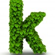 Stock Photo: Leaves font letter k lowercase