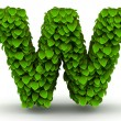 Stock Photo: Leaves font letter w lowercase