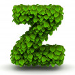 Stock Photo: Leaves font letter z lowercase