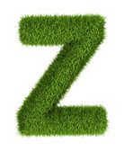 Natural grass letter z lowercase — Stock Photo
