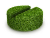 Green grass tab — Stock Photo