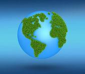 Gras-globus — Stockfoto