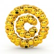 Emoticons  copyright symbol — Stock Photo