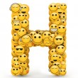 Emoticons letter H — Stock Photo #29994269