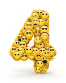 Emoticons number 4 — Stock Photo