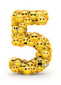 Emoticons number 5 — Stock Photo