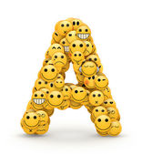 Emoticons letter A — Stock Photo