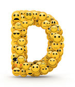 Emoticons letter D — Stock Photo