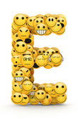 Emoticons letter E — Stock Photo