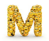 Emoticons letter M — Stock Photo