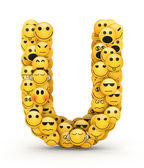 Emoticons letter U — Stock Photo