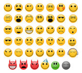 Emoticons set — Stock Photo