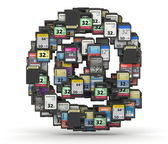 Font from memory cards, at symbol — Stock Photo