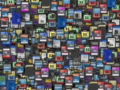 Many of different SD and microSD memory cards — Stock Photo