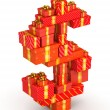 Dollar sign from gifts — Stock Photo #34102811
