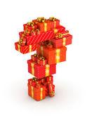 Point d'interrogation de cadeaux — Photo