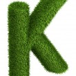 Natural grass letter K — Stock Photo #34159579