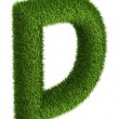 Natural grass letter D — Stock Photo #34162613