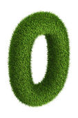 Natural grass number 0 — Stock Photo