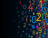 Vector background from numbers — Wektor stockowy