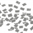 Stock Photo: Flying pages of paper wall 3d isometry