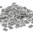 Big pile of pages paper  3d isometry — Stock Photo