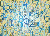 Vector background from numbers — Vecteur