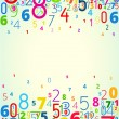 Vector background from numbers — Stock Vector