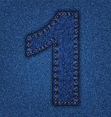 Jeans Alphabet Nummer 1 — Stockvektor