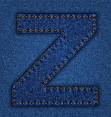 Dżinsy z litera alfabetu — Wektor stockowy