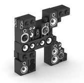 Letter K from speaker in isometry — Stock Photo