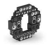 Letter O from speaker in isometry — Stock Photo