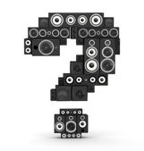 Question mark from speaker — Stock Photo