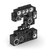 Number 2 from speaker in isometry — Stock Photo