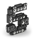 Number 5 from speaker in isometry — Stock Photo