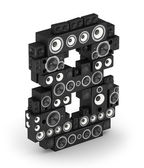Number 8 from speaker in isometry — Stock Photo