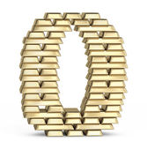 Number 0 from gold bars — Stock Photo