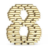 Number 8 from gold bars — Stock Photo