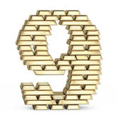 Number 9 from gold bars — Stock Photo