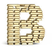 Letter B from gold bars — Stock Photo