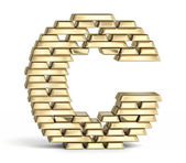 Letter C from gold bars — Foto Stock