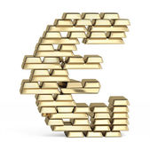 Euro sign from gold bars — Stock Photo