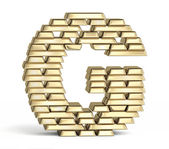 Letter G from gold bars — Stock Photo