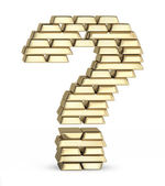 Question mark from gold bars — Stock Photo