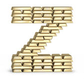 Letter Z from gold bars — Stock Photo