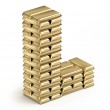 Letter L from gold bars — Stock Photo #38217925
