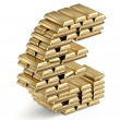 Euro sign from gold bars — Stock Photo #38522257