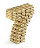 Number 7 from gold bars — Stock Photo