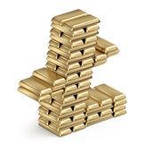 金の延べ棒から litecoin シンボル — ストック写真