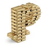 Peercoin σύμβολο από ράβδους χρυσού — Φωτογραφία Αρχείου